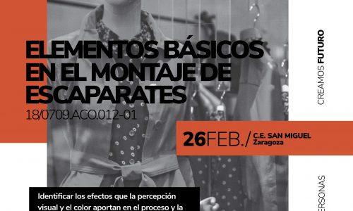 ELEMENTOS BÁSICOS EN EL MONTAJE DE ESCAPARATES