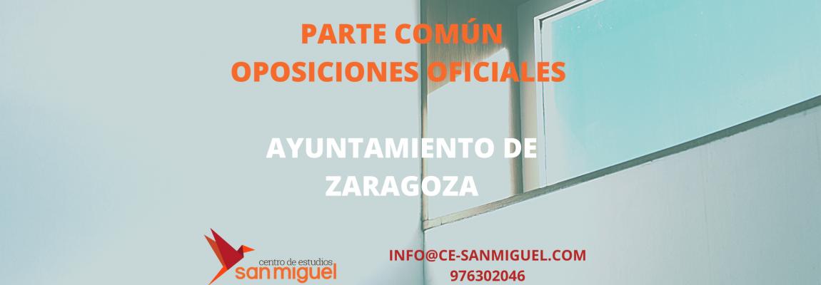 Parte Común Oposiciones Ayto Zaragoza