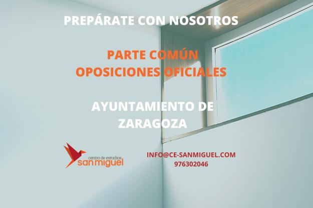 Oposiciones Ayuntamiento de Zaragoza